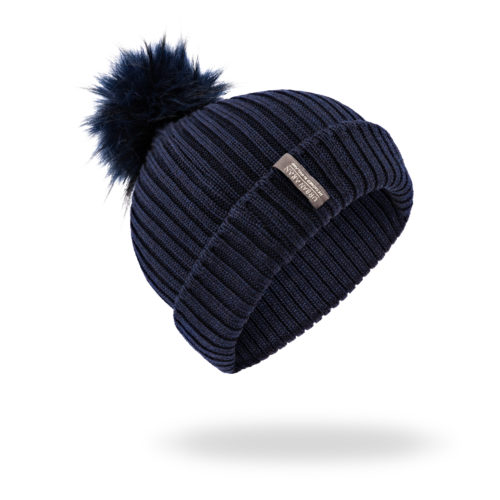 Navy Urban Aran Hat Beanie