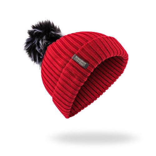Red Urban Aran Hat Beanie