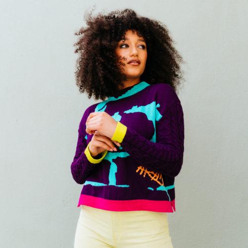 Pullover - XS/S in Purple