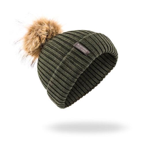 Green Urban Aran Hat Beanie