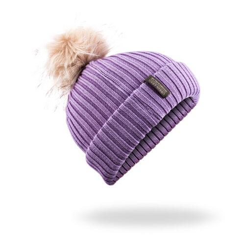 Lilac Urban Aran Hat Beanie