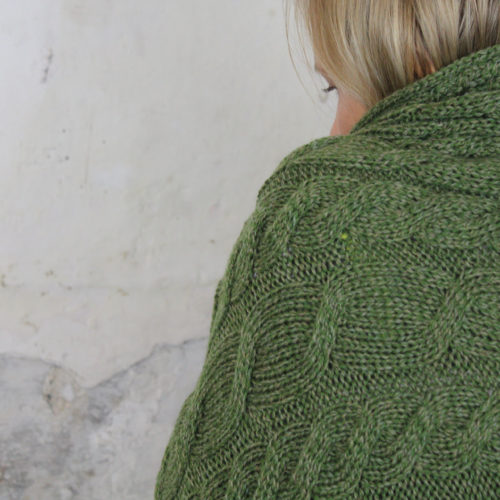 Cable Blanket - Hunter Green